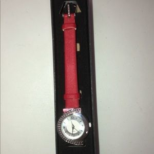 Accessories - Beautiful red strap watch.